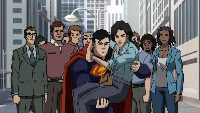 """Кадр из мультфильма """"Смерть Супермена"""""""